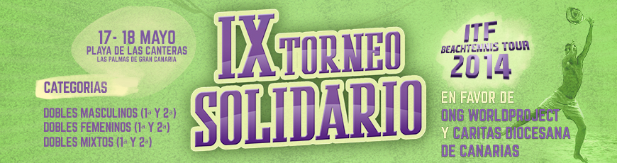 IX TORNEO SOLIDARIO ITF Beachtennis Tour 2014