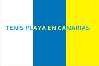 Bandera Canaria Tenis Playa